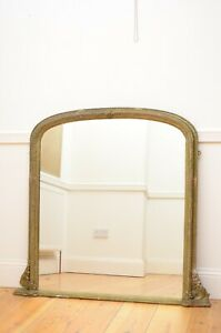 English Victorian Wall Mirror  / Overmantel / Delivery Available