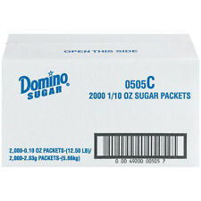 Domino Sugar Packets - 2000 ct. Box Individual Serving Packets Coffee Service