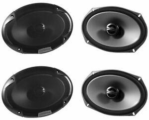 "2 Pairs of Alpine SPE-6090 6"" x 9"" 2 Way Car Stereo Speakers Totaling 600 Watts"
