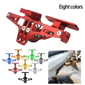 Motorcycle License Plate Holder For LED Tail Light Turn Signal Mount Bracket CNC