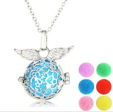 Essential Oil Diffuser Necklace 6 Changeable Pads With FREE 2mL Peppermint Oil