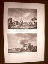 Brindisi Veduta Città, Castello e Porto Campania Voyage Pittoresque di Saint Non
