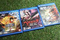 Attack on Titan/Kaizoku musou2 /Berserk Musou Psv vita game set from Japan