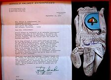 Arnold Palmer Documented Autographed Tournament Used Golf Glove Vintage 1975