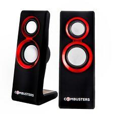 USB Design Lautsprecher Box Boxen Pc Computer Laptop schwarz rot Gamer  Gaming 039f15b4e4d5d