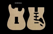 "Stratocaster MDF Guitar Body Template 0.25"" thickness CNC made strat"