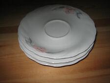3 StückPorzellan-Untertassen weiß mit Blumen Winterling Durchmesser: ca. 14,8 cm