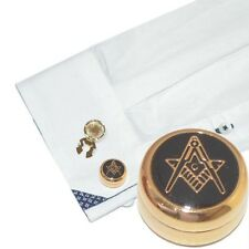 Gold Plated Masonic (With G) Cuff Button Covers (X2AJBC008)