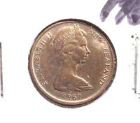 CIRCULATED 1967 5 CENT NEW ZEALAND COIN! (92115)