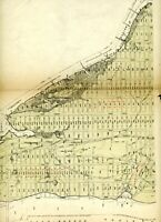 Vintage 1910 Stokes Iconography of Manhattan Map plate New York city 125th st
