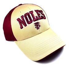FSU NOLES TEXT FLORIDA STATE UNIVERSITY SEMINOLES ADJUSTABLE HAT CAP CURVED BILL
