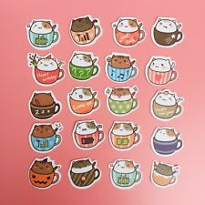 20 PCS Kawaii Die Cut Cute Teacup Hamster Flake Sticker Sack Scrapbooking Craft