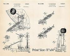 """Ludwig Speed King Bass Drum Pedal 11""""x14"""" Patent Poster Good Gifts For Drummers"""