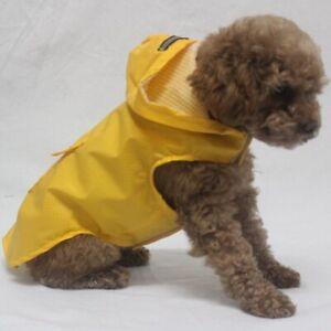 Reflective Hooded Coat Jacket Pet Dog Rain Raincoat Waterproof Poncho Lightweigh