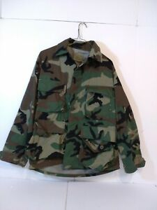 Military Jacket Mens Camouflage Multi Flap Pocket Utility Hunting Size Small