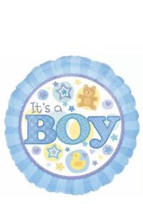 It's a Boy Blue Foil Balloon Blue Arrival Baby Shower Party Gender Reveal