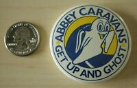 Abbey Caravans Motorhomes RVs Get Up And Ghost Pin Pinback Button #31651