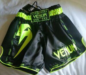 Venum Giant Lightweight Muay Thai Shorts - Black/Neo Yellow Men's Small NWT