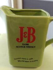 Vintage J&B Scotch Whisky Whiskey Wade PDM England Green Ceramic Pitcher free sp
