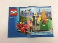 Lego City 60000 Instructions Booklet / Manual Only 2013