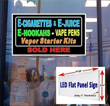 LED Sign E Cig  E  Juice E  Hookah  Vaper Starter kits 48x24 LED window sign