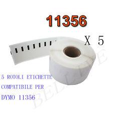 5 X Etichette Compatibili per DYMO 11356 89mmx41mm S0722560 LABELWRITER 400 450