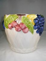 Lovely Vintage, Fruit Decorated Cache Pot from Portugal by Jay Willfred
