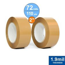 """Choose the Quantity1-108 RollsClear Packing Tape 2/""""x110 yards 330ft 1.6Mil"""