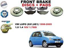 für VW Lupo 1.0 1.4 1.7 Fließheck 98-05 Vorderbremse Scheibensatz + BREMSBELÄGE