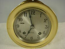 Vintage Chelsea Ship's Bell Clock Maritime Brass in V. Good Running Condition