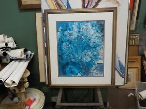 """Marc Chagall """"Evening Enchantment"""" professionally framed under glass excellent"""