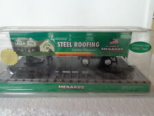 MENARDS LIMITED EDITION 2010 STEEL ROOFING TRAILER ON FLAT CAR COMPATIBLE LIONEL