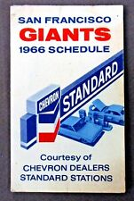 1966 SAN FRANCISCO GIANTS Chevron baseball pocket sked schedule
