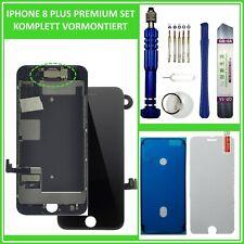 """Display LCD für iPhone 8 PLUS 5,5"""" RETINA HD VORMONTIERT Komplett SCHWARZ Black"""