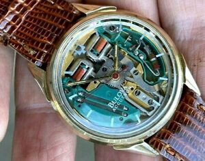 RARE 1971 BULOVA ACCUTRON SPACEVIEW 214 GOLD FILLED ALL ORIGINAL JUST SERVICED