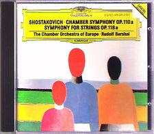 Rudolf Barshai: Shostakovich Chamber Symphony op.110a for Strings op, 118a DG CD