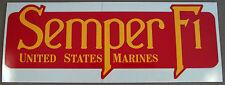 """Vereinigte Staaten Marine Corps - Usmc Aufkleber - Stoßstangen """" Semper Fi """""""