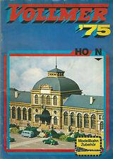 Catalogue VOLLMER 1975 Modélisme ferroviaire HO N gare batiment industriel