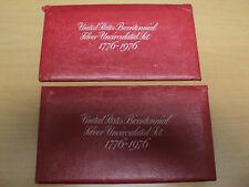 1776-1976 U.S. Bicentennial Silver Uncirculated Set. Lot Of Two
