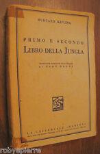Vendo libro 1° e 2° libro della Jungla Kipling Rudyard La Universale Barion 1941