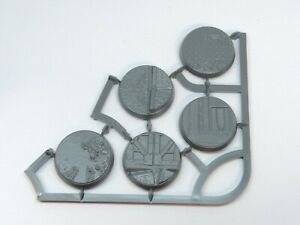 5 Sector Imperialis 32mm Round Scenic Bases #3 Games Workshop Warhammer 40k new
