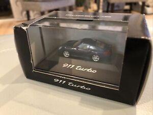 1999-2002 Porsche 996 BLUE 1:87 Dealer Model 911 Turbo HERPA GERMANY +Box