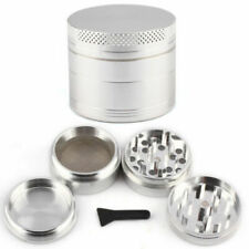 40mm Silve Metal Herb Grinder 4 Part Magnetized Anodized Aluminium Mill Crusher