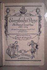 EVERYBODY'S PEPY'S THE DIARY OF SAMUEL PEPYS 1947 SHEPARD