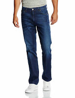 Wrangler Mens Texas Stretch Regular Fit Jeans Lightweight Still Water Blue Denim