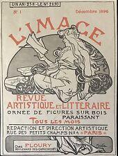 """MUCHA  ALPHONSE  """"L'IMAGE"""" REVUE ARTISTIQUE ET LITTERAIRE DÉCEMBRE 1896"""
