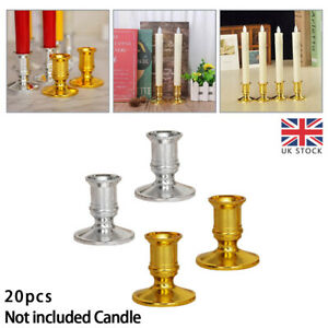 20x Pillar Candle Base Taper Candle Holder Candlestick Christmas Party Decor UK