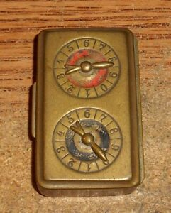 VERY EARLY A.B.& CO. LONDON MADE ABROAD MATCH SAFE CASE/VERY RARE!