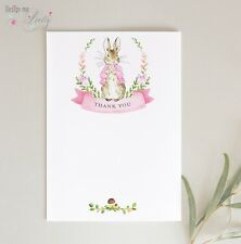 Peter Rabbit THANK YOU CARDS - Pack of 8 - BABY GIRL - POSTCARDS NOTELETS