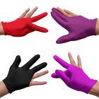 Good Nylon Indoor Billiard Snooker Pool Table Cue Shooters 3 Finger Gloves